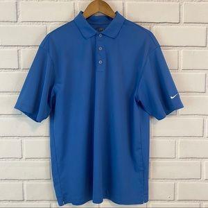 Nike Golf Fit Dry Blue Short Sleeve Polo Shirt
